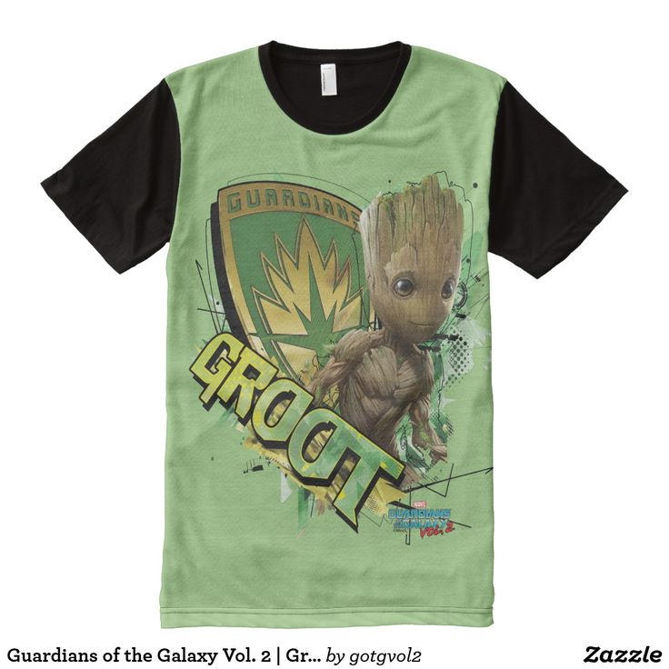Guardians of the Galaxy Vol. 2 | Groot With Badge All-Over-Print T-Shirt