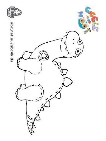 Giggle and Hoot - Print and Colour - ABC4Kids giggleasaurus