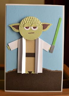Little Miss Scrappy - Confessions of a Scrap Addict: Yoda punch art card