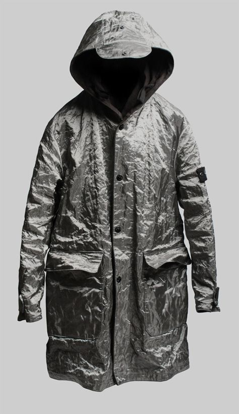 Stone Island woven stainless steel parka                                                                                                                                                                                 More