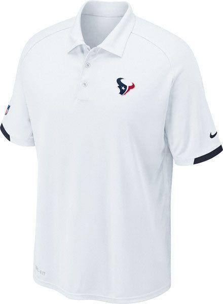 Nfl Nike Dri Fit Houston Texans On Field Polo Short Sleeve