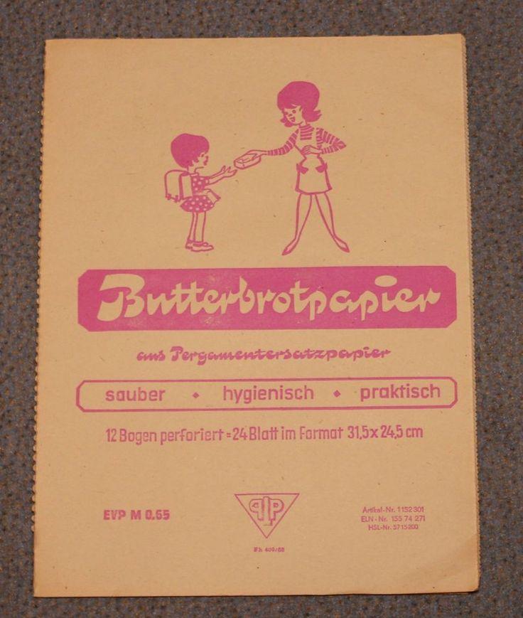 Butterbrotpapier, 24 Blatt, aus Pergamentersatzpapier