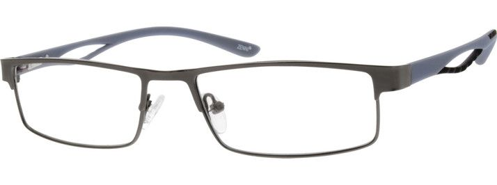 Order online, men grey full rim mixed materials rectangle eyeglass frames model #142712. Visit Zenni Optical today to browse our collection of glasses and sunglasses.