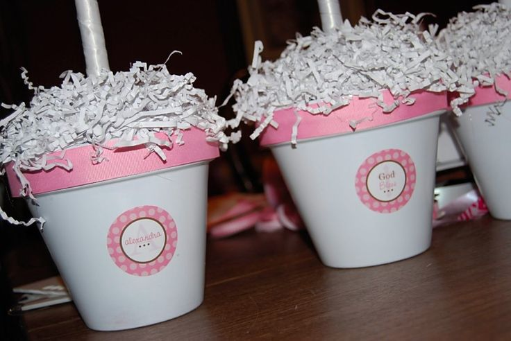 17 best ideas about ribbon topiary on pinterest diy party decorations kids party decorations - Simple baptism centerpieces ...