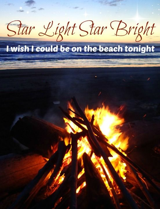 Star light star bright I wish I could be on the beach tonight. Featured on Beach Bliss Living: http://beachblissliving.com/beach-bonfire-in-backyard-fire-pit-ideas/
