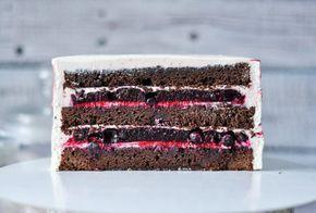 шоколадно-ягодный торт