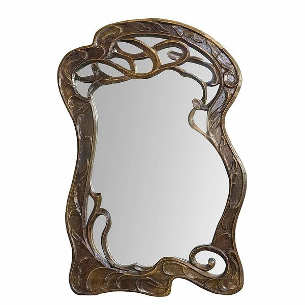 Brawner Hand Carved Mango Wood Curving Branches Accent Mirror In