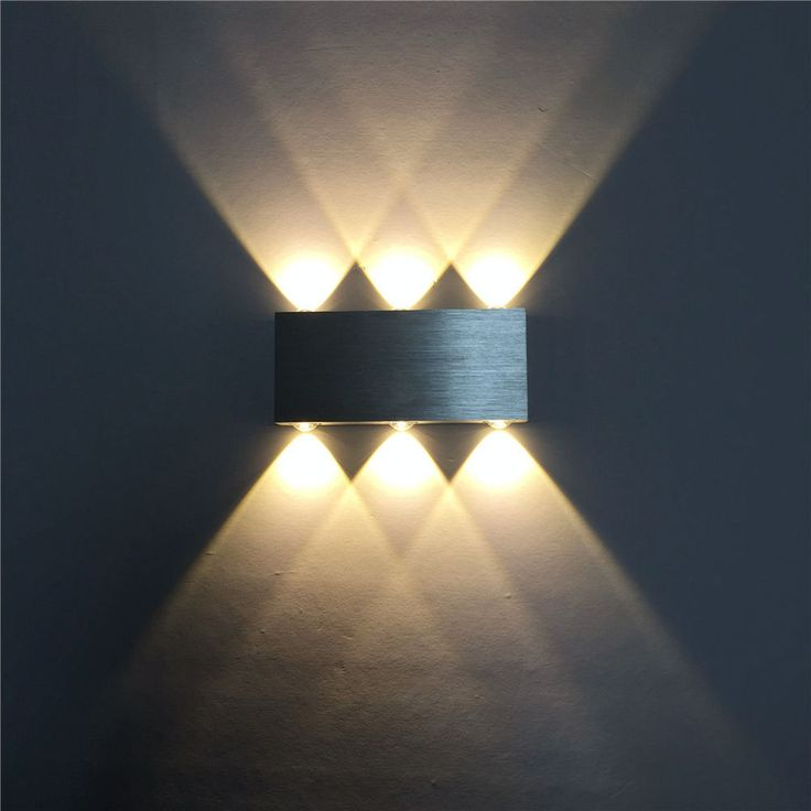 Design Wandleuchte 6W LED Wandlampe Flurlampe Wandstrahler Warmweiß Alu. DHL