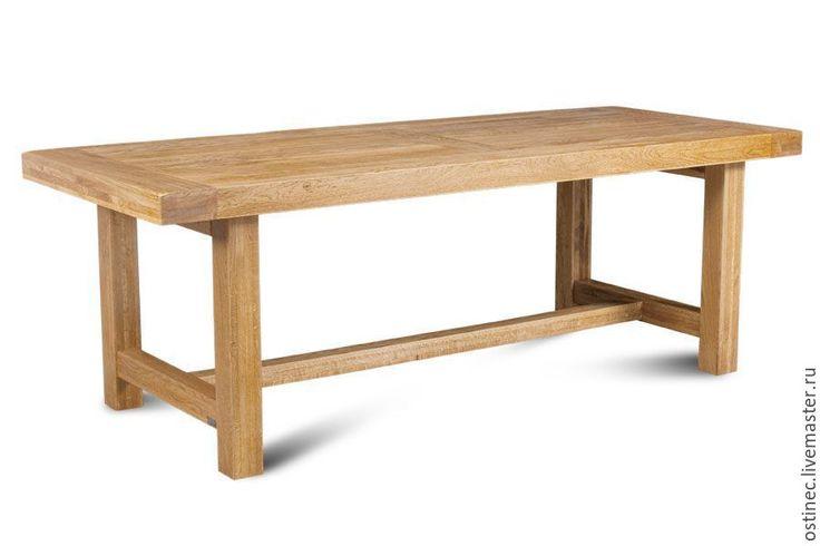 Купить Обеденный прямоугольный стол из массива ясеня или дуба Павла в интернет магазине на Ярмарке Мастеров
