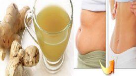 Perdez du poids et débarrassez-vous de la graisse abdominale rien qu'avec du gingembre … (MODE D'EMPLOI)