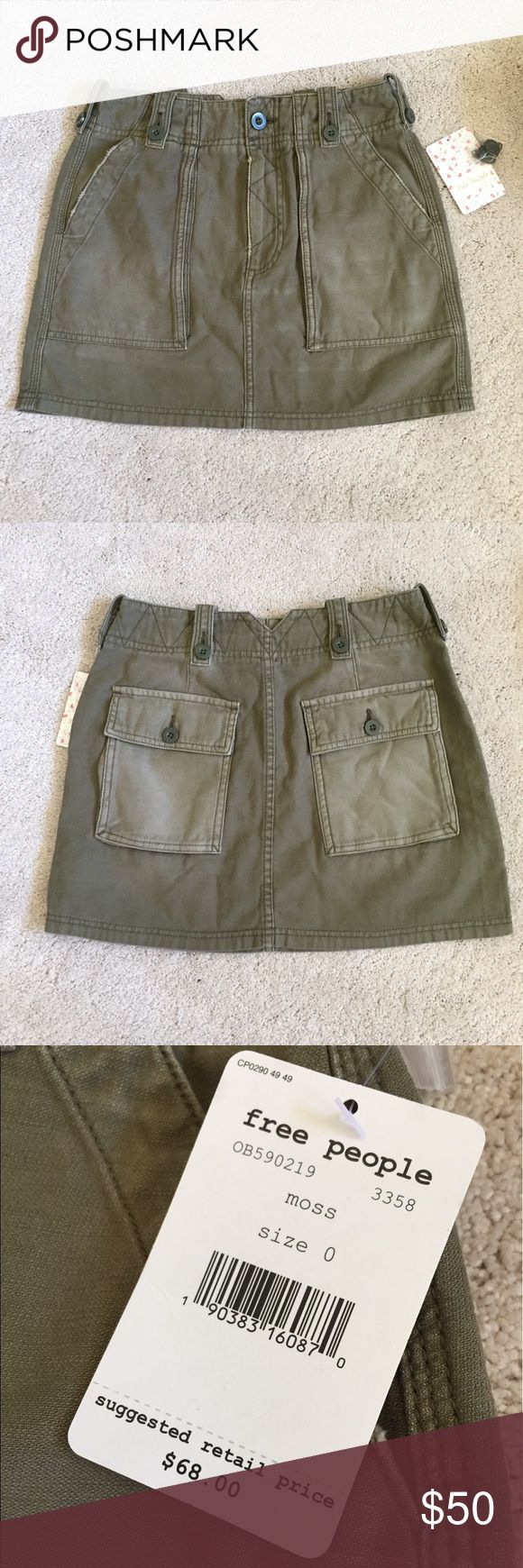 """Free People Military Skirt Brand new with tags.  Approx measurements: Waist: 12.5"""" Length: 13.75"""" Free People Skirts Mini"""