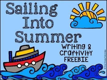 Looking for a fun and easy writing activity for the end of the year? This freebie includes writing paper & templates for a super cute ship craftivity that will keep your kids engaged & get them writing about summer plans! Blank writing paper