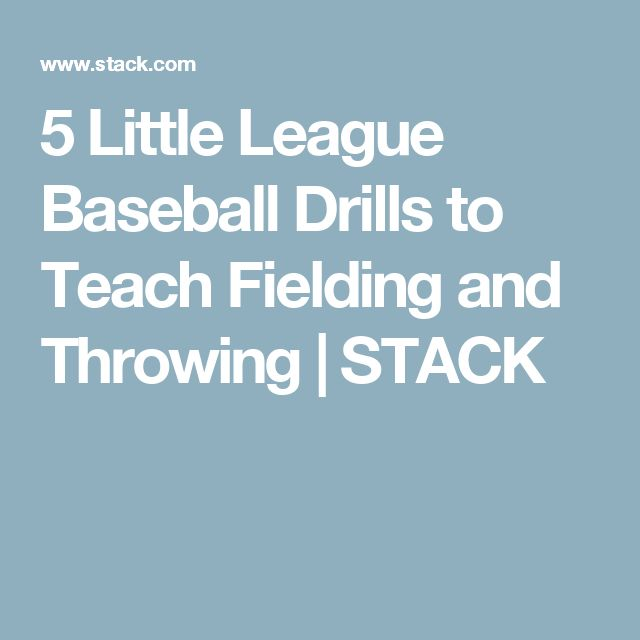 5 Little League Baseball Drills to Teach Fielding and Throwing | STACK