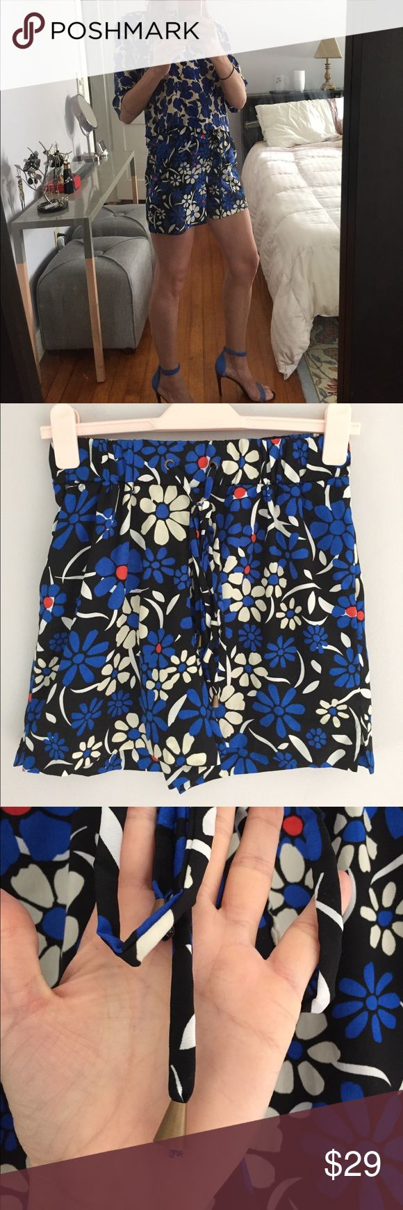 "Walter Baker High Waist Short Cute and comfy. Worn once - excellent condition. Elastic and tie waist. Dress up or down. Size M fits me nicely at 5'6"" but could definitely fit taller as well. Walter Baker Shorts"