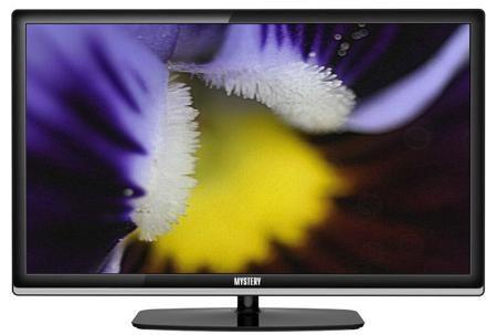 Mystery MTV-2224LT2 (черный)  — 9936 руб. —  ЖК-телевизор Mystery MTV-2224LT2 – стильная и эргономичная модель с широкоформатным 22-дюмовым Full HD-дисплеем. Удобное подключение внешних устройств и компактные габариты делают телевизор идеальным выбором для небольших помещений. Прекрасная картинка. Яркий благодаря светодиодной подсветке матрицы экран имеет угол обзора в 170 градусов по горизонтали – телевизор можно смотреть в компании друзей: будет хорошо видно со всех сторон.Универсальный…