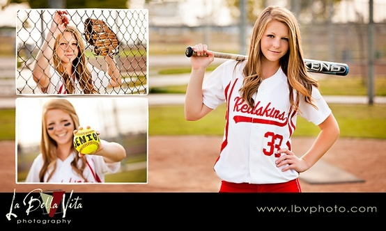 Cute senior picture ideas for softball player