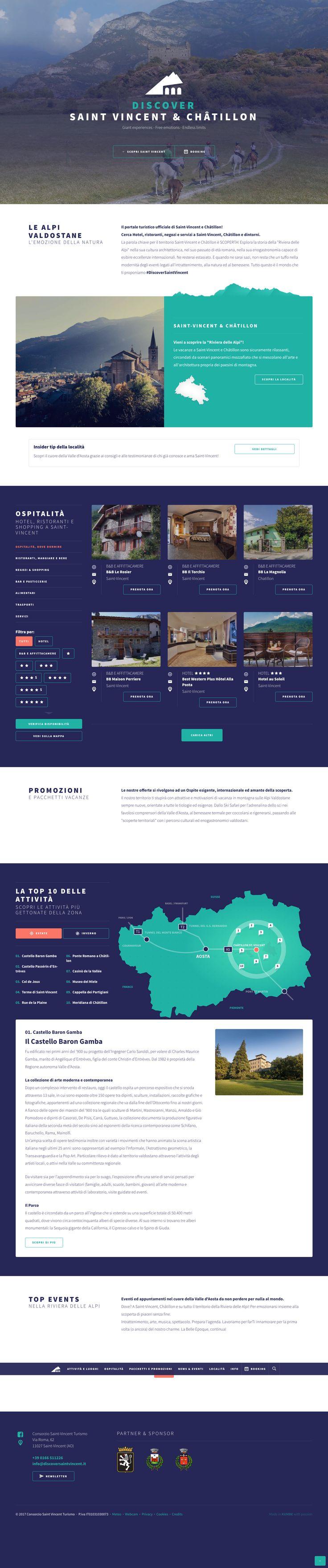 #discoversaintvincent www.discoversaintvincent.it #kumbe #portfolio #webdesign #website #responsivedesign #tourism #discover #mountain #experiences #giantexperiences #freeemotions #endlesslimits #emozione #natura #alpi #mountains #portaleturistico #hotel #ristoranti #negozi #servizi #rivieradellealpi #relax #skisafari #ski #trekking #saintvincent #châtillon #valledaosta #alpivaldostane #italia
