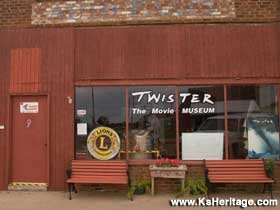 Wakita, Oklahoma: Twister The Movie Museum - In a little red brick former auto parts store that was the 1995 film's on-location office.