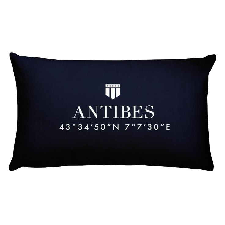 Antibes Côte d'Azur Pillow with Coordinates