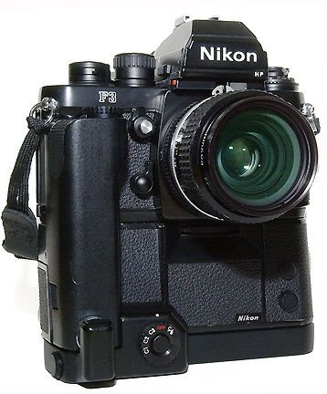 Nikon F3 Polar. Oversized dials to be operable with gloved hands.  A very rare vertical release plate for the MD-4.