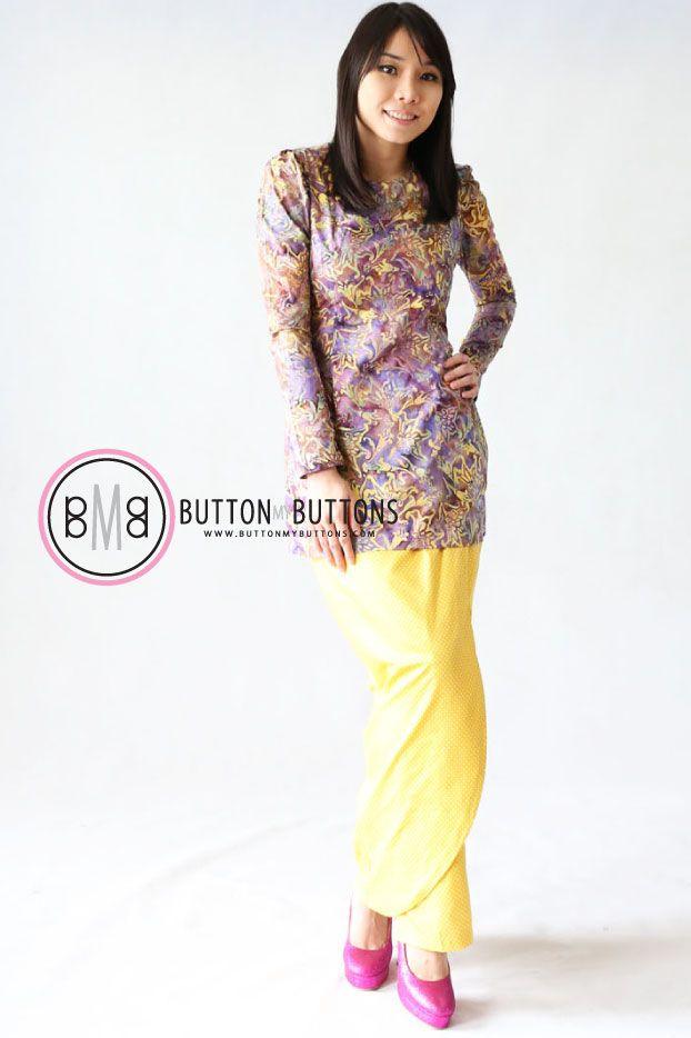 Samirah Purple Batik | Button My Buttons by Shahida Shariff
