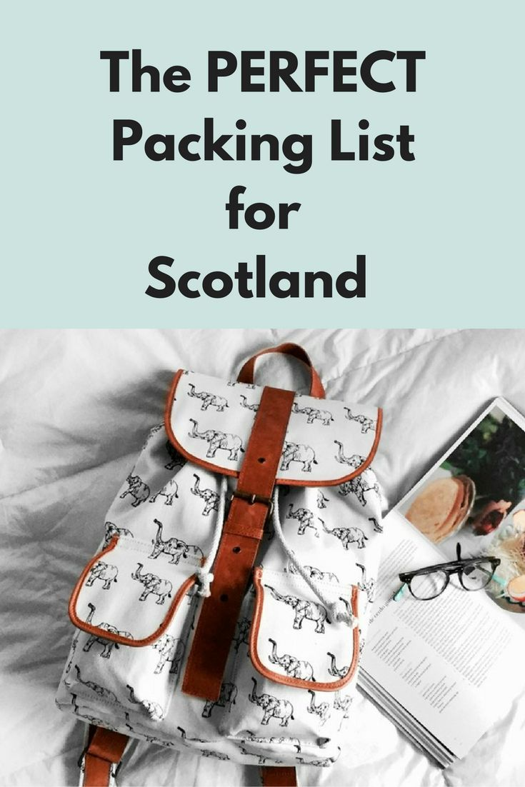 Travel packing what to pack for an autumn weekend break to scotland