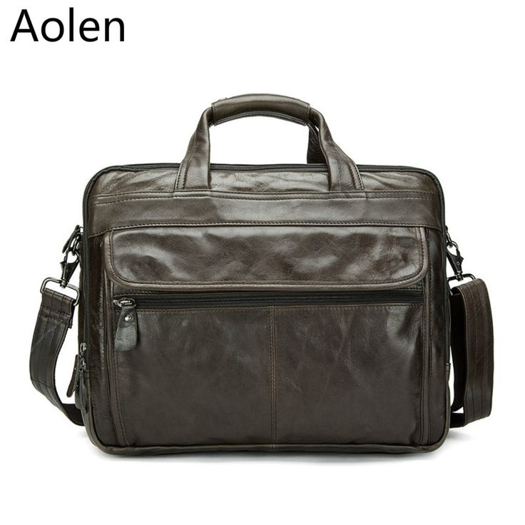 162.68$  Buy here - http://aligre.worldwells.pw/go.php?t=32787668200 - Genuine Leather Man Bag Business Crossbody Bags Portable Briefcase Laptop Handbag Casual Purse Sacoche Homme Marque 162.68$