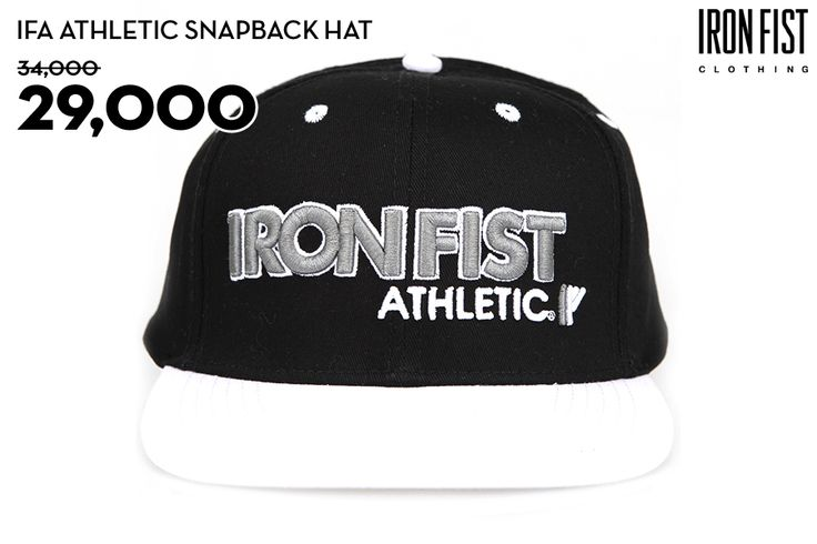 IFA ATHLETIC SNAPBACK HAT (WHITE) / 34,000원 → 29,000원 http://www.ironfist.co.kr/shop/goods/goods_view_athletic.php?goodsno=431  #ironfist #아이언피스트 #athletic #운동 #건강 #피트니스 #스포츠 #모자 #스냅백