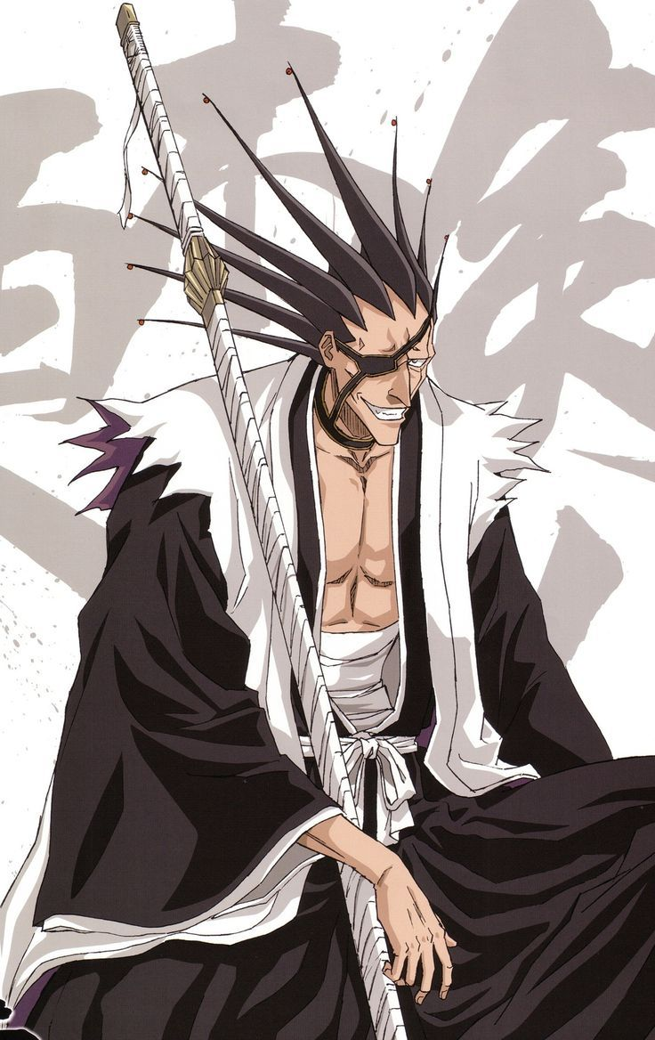 Kenpachi Zaraki most awesome and psychopathic person you will ever meet yet you will still find him awesome