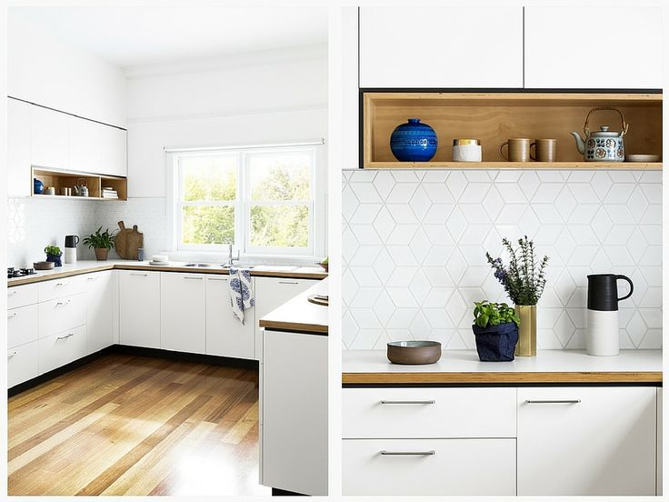 Cocina blanca y madera 1 cocinas pinterest for Cocinas de madera blanca