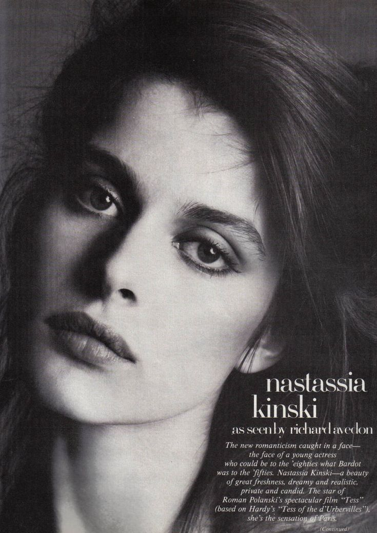 Nastassja Kinski, Richard Avedon, Vogue and python. |