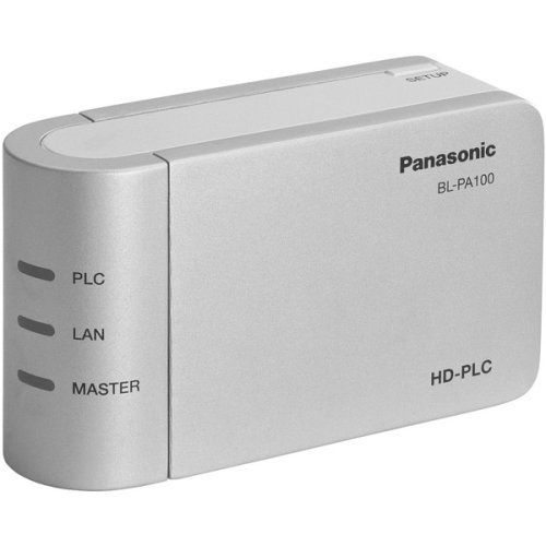 Panasonic BL-PA100KTA Ethernet Adaptor Starter Pack Includes two HD-PLC (High Definition Power Communication) by Panasonic. $64.00. The HD-PLC (High Definition Power Line Communication) ethernet adaptor makes it possible for your home electrical wiring to serve as a link between your PC and modem. Getting online access is as easy as plugging into a power outlet. You can move your PC and connect to the internet anywhere there is a power outlet in your home!