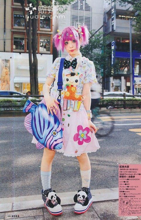 Harajuku girl decora japanese fashion kawaii