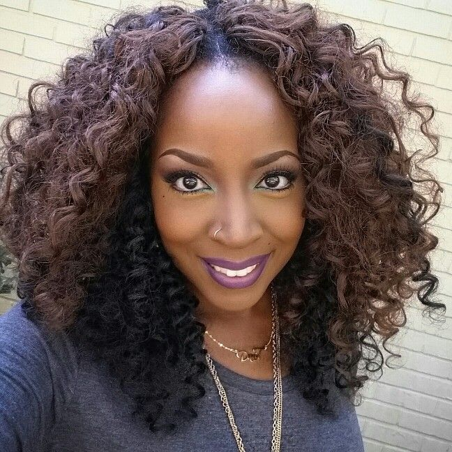 Curly Crochet Braids With Xpression Hair : on Pinterest Crochet Braids, Full Sew In Weave and Full Sew In