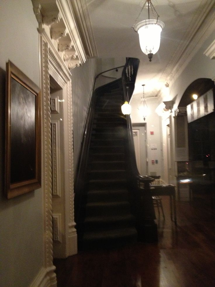 Haunted Stairway Of Hull House In Chicago
