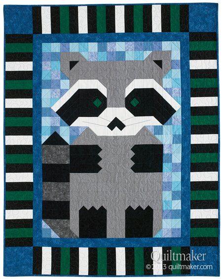 racoon quilt