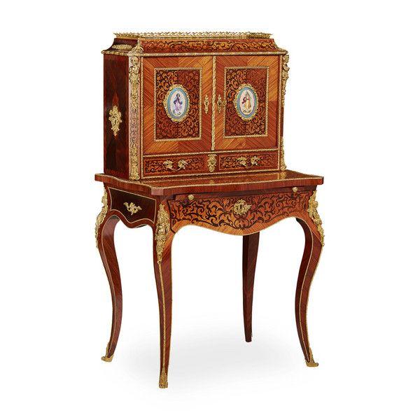 Louis XVI Style Kingwood Bonheur du Jour onlinegalleries.com