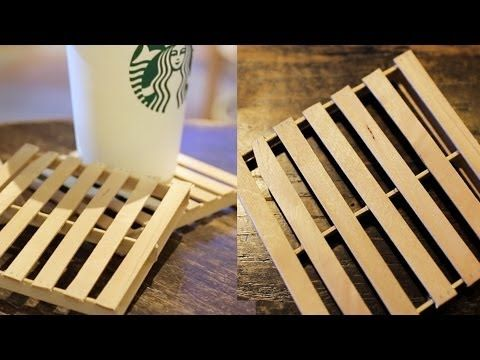 popsicle stick craft ideas for adults diy mini pallet coaster by thesorrygirls 7880