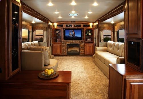 Home sweet rv fireplaces the fireplace and living rooms - 5th wheel campers with 2 bedrooms ...
