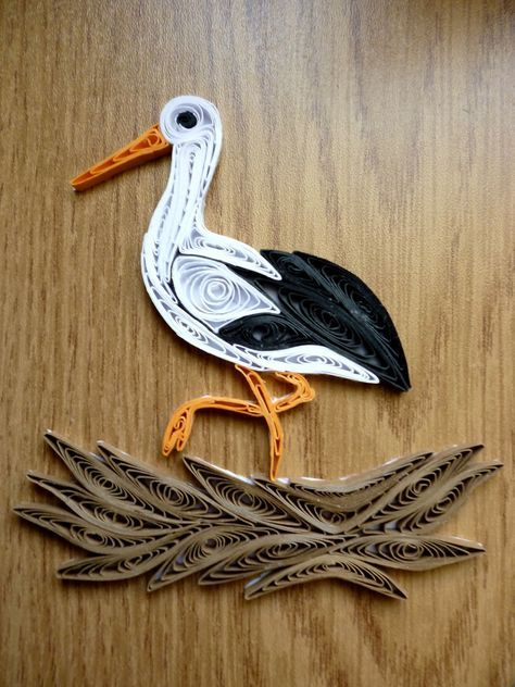 Quilling stork quilling pinterest fil de fer fil et for Deco quilling