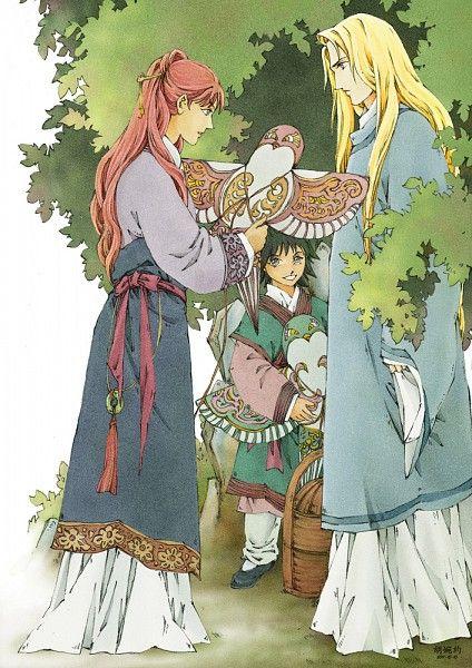 陽子 Youko、景麒 Keiki、蘇桂桂 Keikei:十二国記 Juuni Kokki/Twelve Kingdoms - fanart