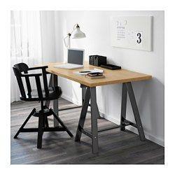 IKEA - ODDVALD, Tréteau, , Le bois massif est un matériau naturel et solide.