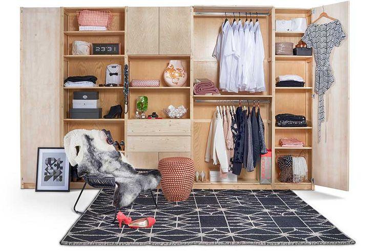 Styling voor Lundia Original kledingkasten | Op maat gemaakt | styling met oudroze, koper, zwart en wit