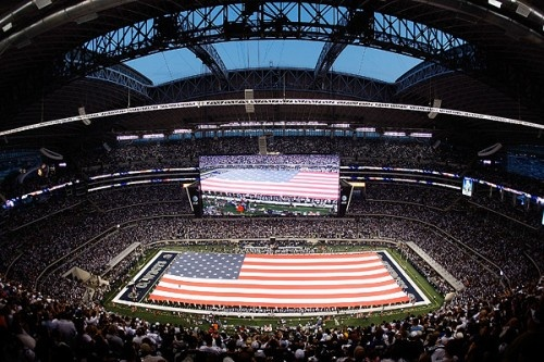 Love the American flag.