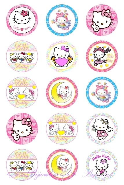 "Bottle Cap afbeeldingen ""Hello Kitty"""