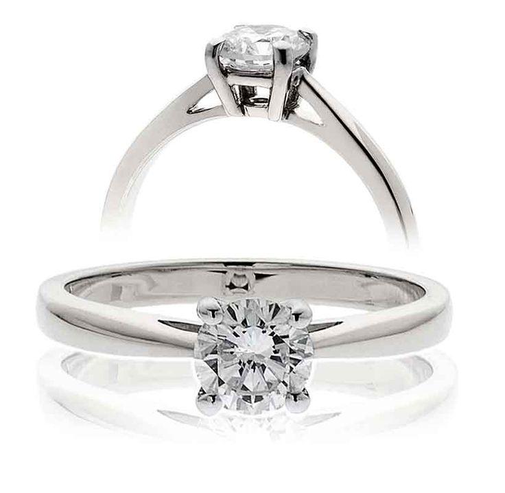 Diamond and Platinum Solitaire ring.