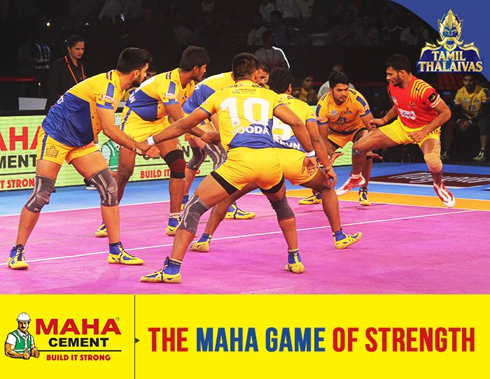 Maha Cement associated with Pro Kabaddi League continuing its brand connect with the power sport. We were the sponsors for team Tamil Thalaivas  PKL Kabaddi 2017 schedule, as such is a power sport which exhibits sheer strength &fineness in movement