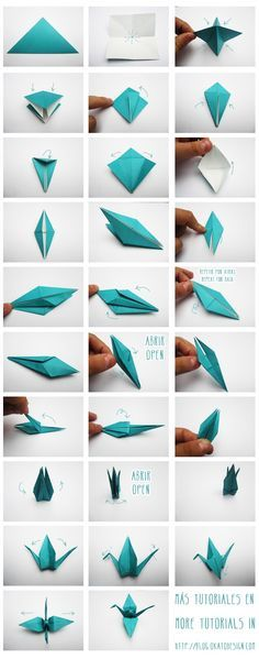 diy and crafts, grullas de origami, nice tutorial to help explain how to make these beauties