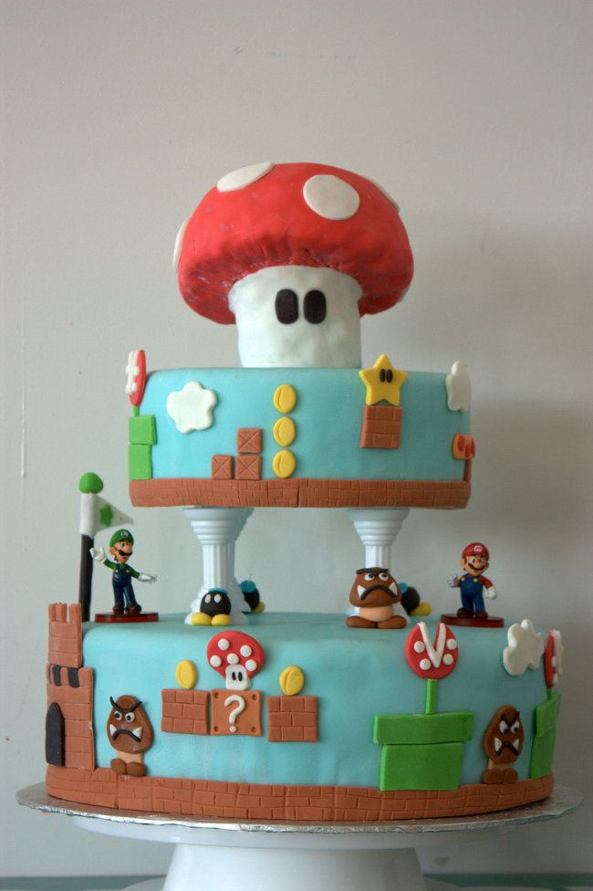 Classic Mario Is Delicious: Super Mario Bros Cake
