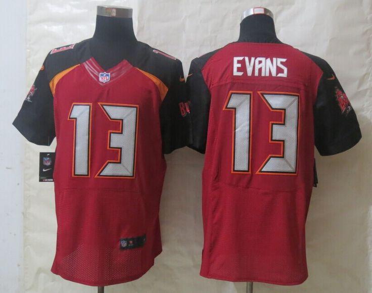 Men's NFL Tampa Bay Buccaneers #13 Evans Red Elite Jersey